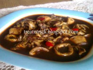 SOTONG MASAK HITAM (SQUID IN BLACK INK)