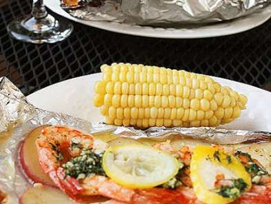 Grilled new england seafood bake, Recipe Petitchef