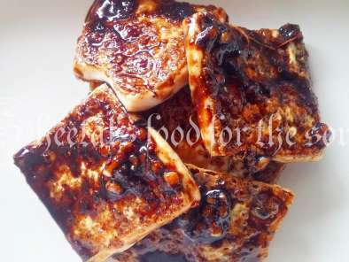 Tofu With Honey Chilli Sauce