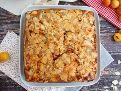 Mirabelle plum cake with almonds