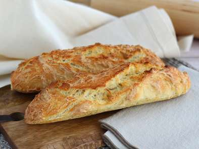 No-knead French baguettes
