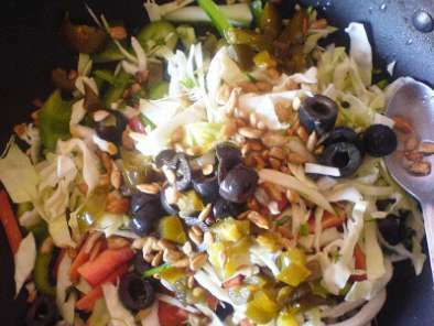 Orange, Peppers and Cabbage Salad