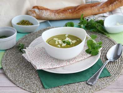Pea soup with mint, photo 2