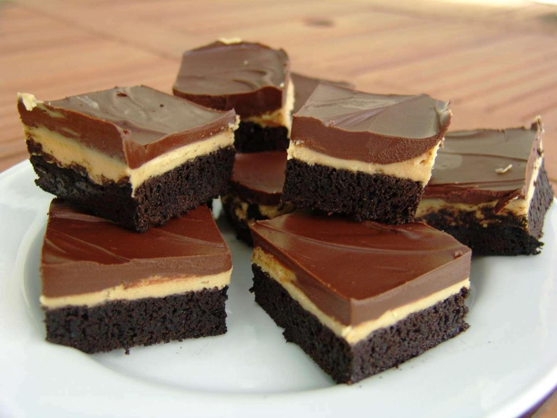 Peanut butter truffle brownies, Recipe Petitchef