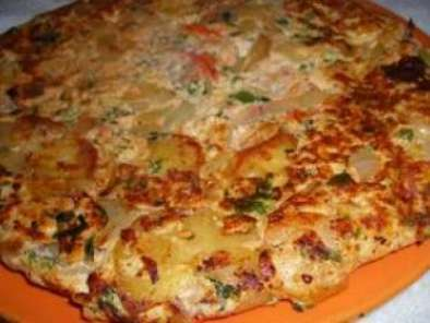 Prawn Egg Tortilla (also known as spanish omelet)