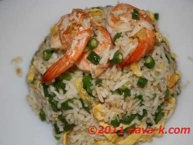 Prawns And Long Beans Fried Rice