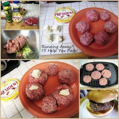 President brie stuffed hamburgers & strawberry brie mini ...
