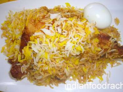 Roasted chicken biryani