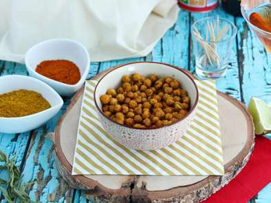 Roasted chickpeas with curry (Baked chickpeas)