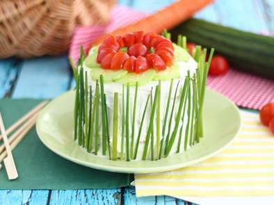 Sandwich cake, a fresh and cute appetizer