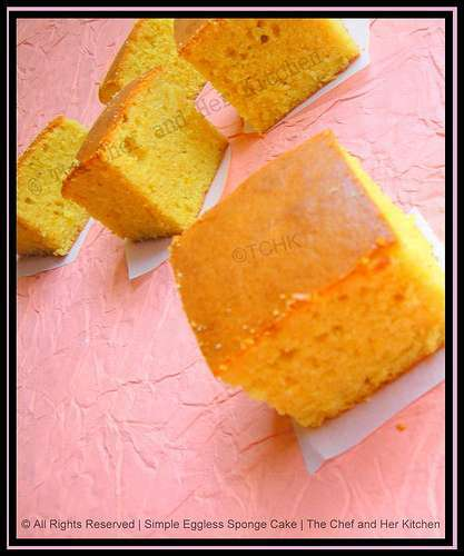 Apple Cider Sponge Eggless Cake