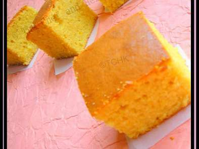 Simple Eggless Orange flavored Sponge Cake
