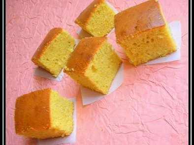 Simple Eggless Orange flavored Sponge Cake, Photo 2