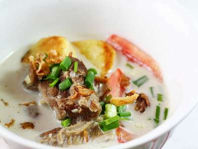 Soto Betawi - Indonesian Creamy Beef Soup