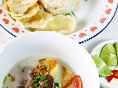 Soto Betawi - Indonesian Creamy Beef Soup, Photo 2