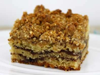Sour Cream Coffee Cake with Chocolate-Cinnamon Swirls and Hazelnut Crumb Topping, Photo 2