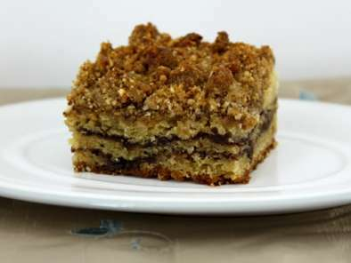 Sour Cream Coffee Cake with Chocolate-Cinnamon Swirls and Hazelnut Crumb Topping, Photo 3