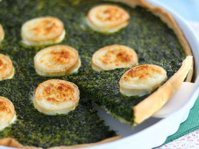 Spinach and goat cheese quiche