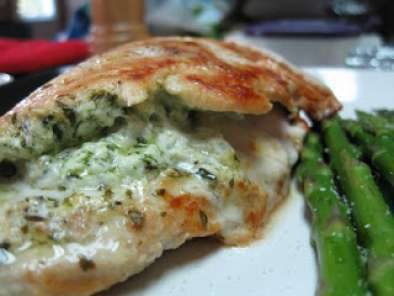Spinach and Goat Cheese Stuffed Chicken Breasts and Mashed Turnips