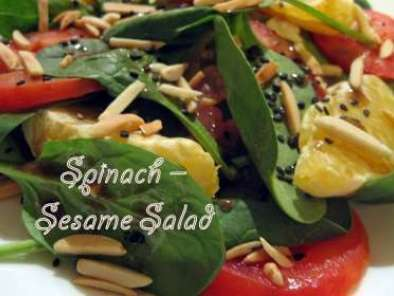 Spinach-sesame salad