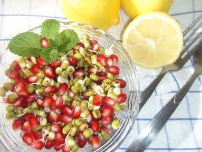 Sprouts & Pomegranate Salad
