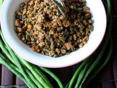 String Bean Masala/String beans Stir fry with Coconut and Spices