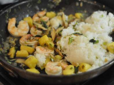 Thai Pineapple Fried Rice Recipe with Basil and Wild Shrimp, Photo 3
