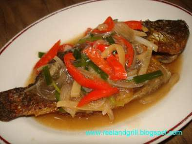 Tilapia in Oyster Sauce and Veggies - Escabeche Style