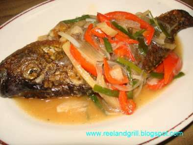 Tilapia in Oyster Sauce and Veggies - Escabeche Style, Photo 2