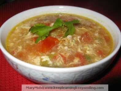 Turkey mince tomato egg soup, Recipe Petitchef