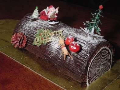 Christmas Yule Log Cake.Yule Log Cake For Christmas Or New Year S Eve