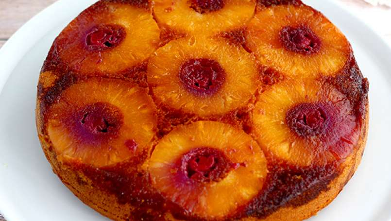 Pineapple upside down cake, the easiest recipe