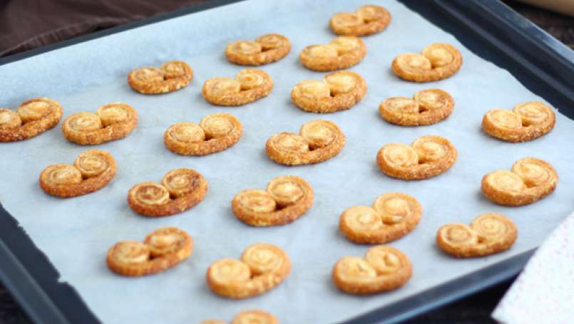 Classic French palmier cookies